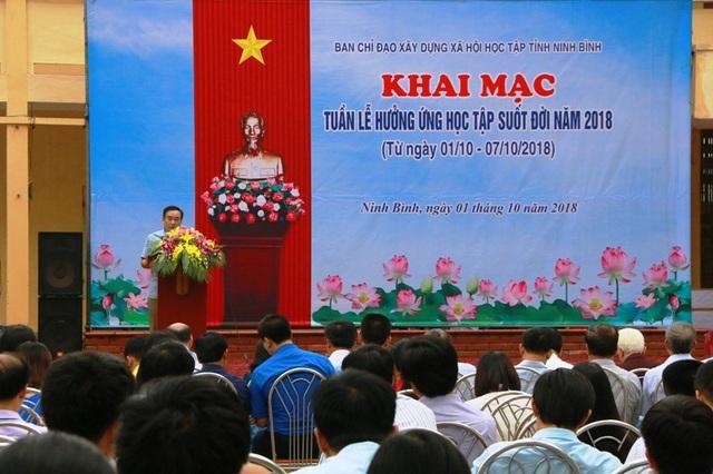 Khai mạc Tuần lễ hưởng ứng học tập suốt đời năm 2018 tại Ninh Bình.