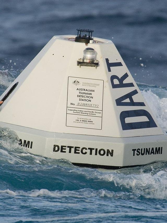 Phao cảnh báo sóng thần đặt trên biển ở Australia (Ảnh: ABC)