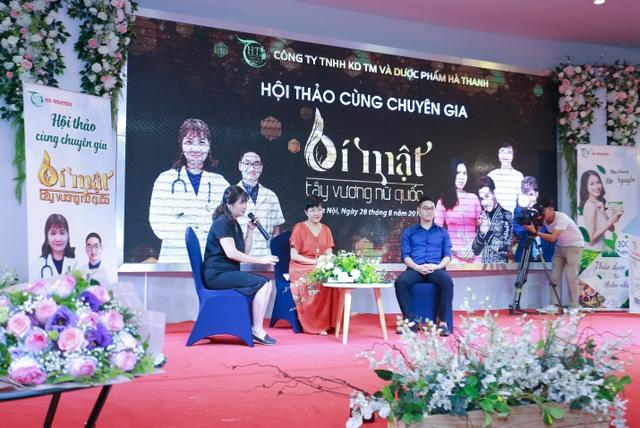 Mc Thảo Vân cùng PGS Lưu Thị Hồng và Bác sĩ Thạch Văn Chất