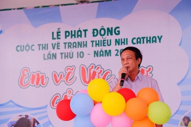 Nhà báo Nguyễn Trân Châu – Phó Tổng Biên tập Báo Thiếu niên Tiền phong phát biểu tại lễ phát động.