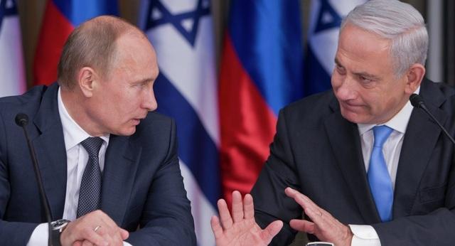 Thủ tướng Israel Benjamin Netanyahu (phải) và Tổng thống Nga Vladimir Putin (Ảnh: Sputnik)