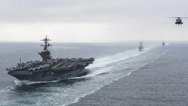 Tàu sân bay USS Roosevelt của Mỹ (Ảnh: Reuters)