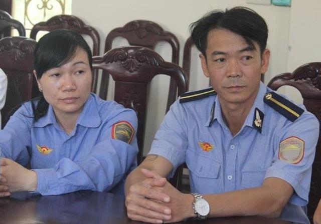 Anh Thái Văn Thành và chị Trần Thị Nhẽ tại buổi lễ.