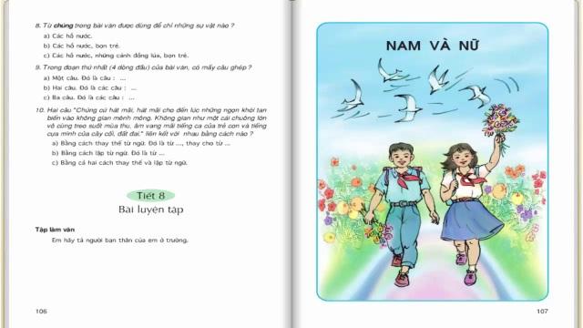 Sách giáo khoa tiểu học có nhiều nội dung bài tập để học sinh viết trực tiếp vào sách