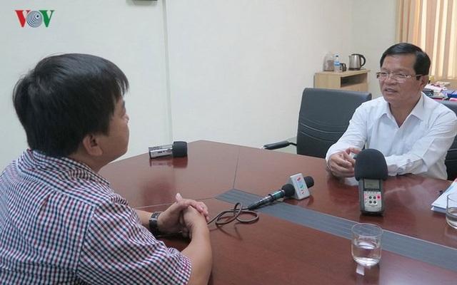 Ông Lê Viết Chữ, Bí thư Tỉnh ủy Quảng Ngãi trao đổi với phóng viên VOV