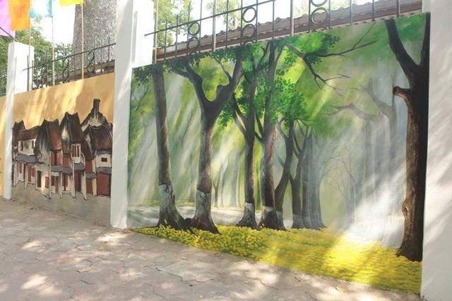 Phong cảnh Hà Nội được tái hiện sinh động, đẹp nên thơ