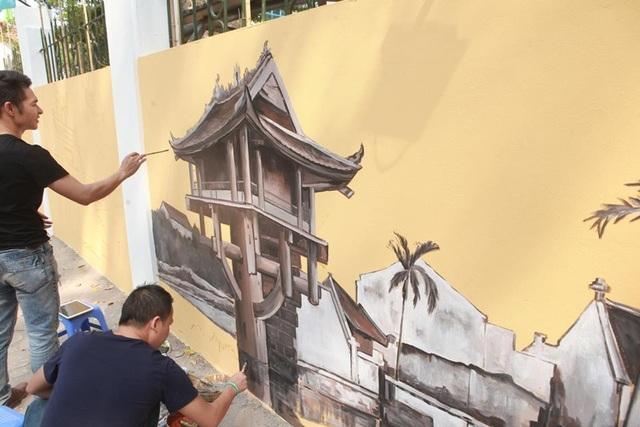 Được biết, đây là dự án được các họa sỹ là cựu học sinh trường THPT Phan Đình Phùng thực hiện nhằm hướng đến kỷ niệm 45 năm thành lập trường.