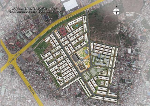 Mặt bằng tổng thể dự án An Sương Residence
