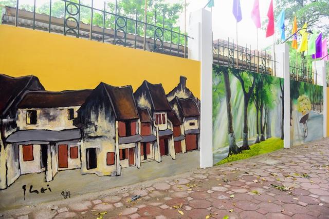 Hà Nội xưa qua tranh bích hoạ trên phố Phan Đình Phùng - 7