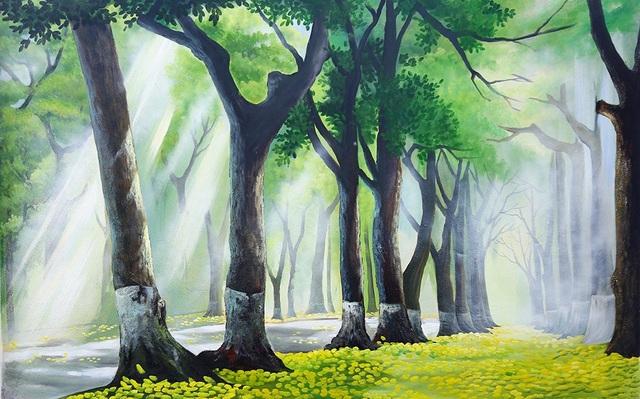 Phố Phan Đình Phùng trên tranh bích họa.