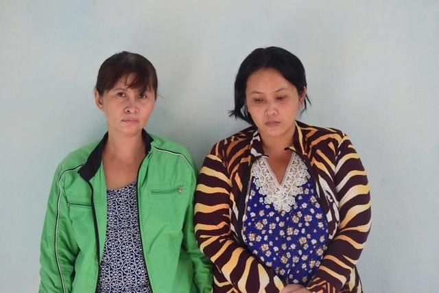 2 chị em Ngọc Diệp và Lan Chi chuyên dùng chiêu thức chở con đi đến các quầy tạp hóa để ăn trộm