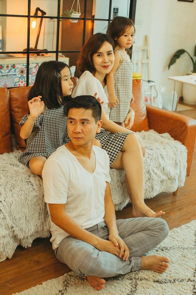 """Lưu Hương Giang và Hồ Hoài Anh chia sẻ, với anh chị thì hai bé chính là một """"gia tài"""" lớn mà mình có được."""