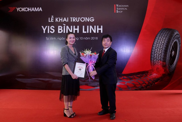 YIS Bình Linh là cửa hàng kiểu mẫu chuyên cung cấp lốp xe Yokohama đầu tiên tại miền Trung