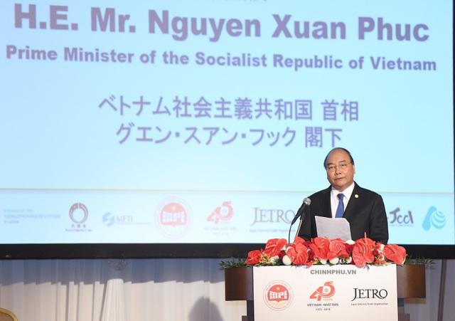 Thủ tướng Nguyễn Xuân Phúc phát biểu tại Hội nghị xúc tiến đầu tư Việt Nam – Nhật Bản (Ảnh: VGP/Quang Hiếu).