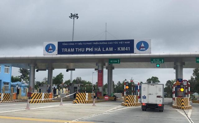 Xe ô tô được xả trạm, không thu phí trên cao tốc Đà Nẵng – Quảng Ngãi