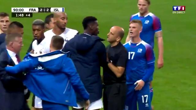Pogba lao vào sân đòi đánh cầu thủ Iceland