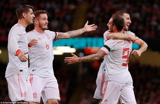 Tây Ban Nha đã thể hiện phong độ ấn tượng tại Cardiff