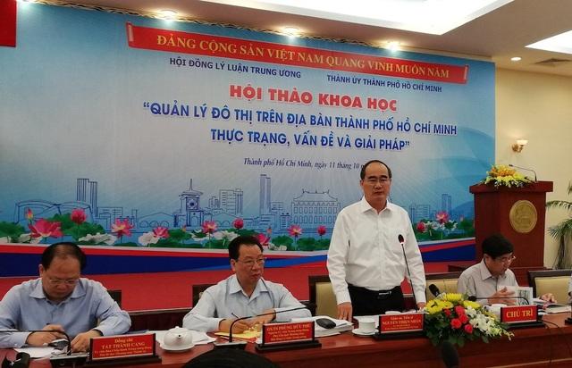 Bí thư Thành ủy TPHCM Nguyễn Thiện Nhân cho rằng thành phố sẽ sử dụng tốt 2 vùng Củ Chi và Cần Giờ để mở rộng không gian đô thị
