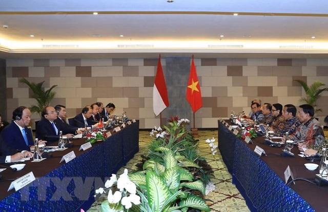 Lãnh đạo Việt Nam và Indonesia hội đàm (ảnh: TTXVN)