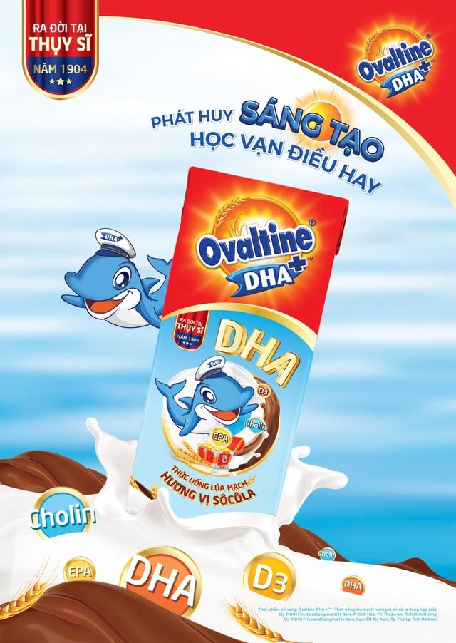 Ovaltine lần đầu tiên ra mắt sản phẩm ca cao lúa mạch có chứa DHA - 1