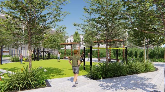Với diện tích lớn dành cho mảng xanh và cảnh quan, tiện ích