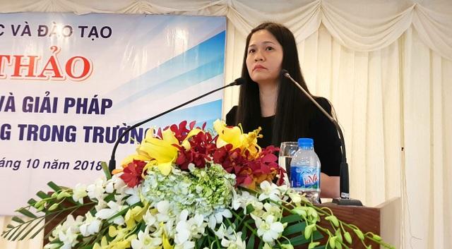 Nguyễn Phương Liên (Phó Hiệu trưởng trường THPT Nguyễn Thị Minh Khai, Hà Nội)