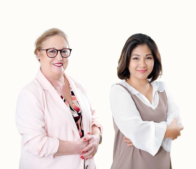 Anna Marsiano - Chuyên gia da liễu Úc và Mrs. Phạm Phương Linh – Giám đốc đào tạo Juliette Armand