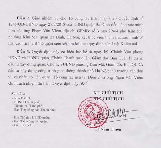Hà Nội: Quận Ba Đình chính thức thụ lý giải quyết khiếu nại của người dân bị thu hồi đất - Ảnh 2.
