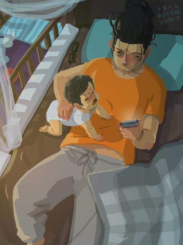 """Có những lúc muốn thư giãn đôi chút nhưng không dễ dàng gì Bộ tranh đầy cảm động về tình cha con """"gây sốt"""" cư dân mạng"""