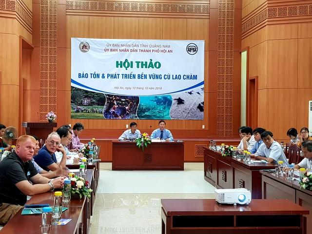 Hội thảo Bảo tồn và phát triển bền vững Cù Lao Chàm được tổ chức ngày 12/10 tại Hội An