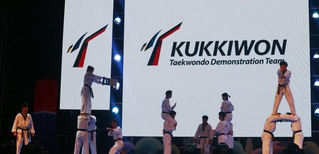 Màn biểu diễn võ thuật Taekwondo gây nhiều hấp dẫn với khán giả