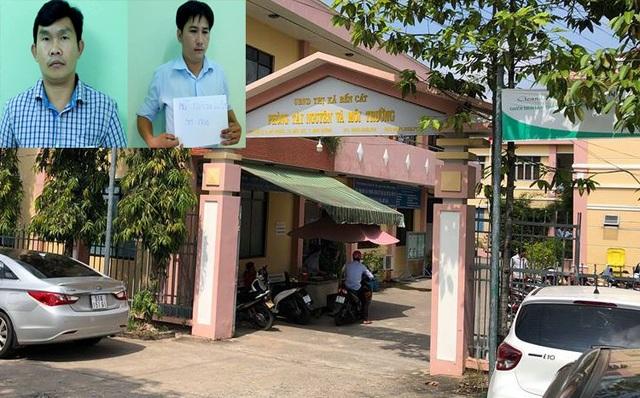 Ông Lê Hoài Linh (SN 1982, giám đốc Chi nhánh Văn phòng đăng ký đất đai thị xã Bến Cát) và Nguyễn Thành Luân (SN 1986, cán bộ đo đạc thuộc Chi nhánh Văn phòng đăng ký đất đai thị xã Bến Cát) đã bị bắt vào chiều 12/10.