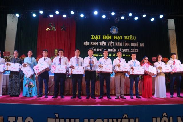 Tại đại hội, Trung ương Hội Sinh viên Việt Nam trao tặng Bằng khen cho 1 tập thể và 16 cá nhân có những đóng góp cho phong trào của Hội. Đồng thời, Hội Sinh viên tỉnh Nghệ An đã trao tặng 20 suất học bổng cho những sinh viên có hoàn cảnh khó khăn, vươn lên học tập tốt.