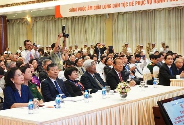 Lãnh đạo, nguyên lãnh đạo Đảng, Nhà nước, đại diện các Bộ, ngành dự Đại hội.