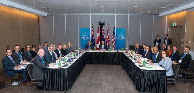 5 nước thành viên liên minh Five Eyes nhất trí đẩy nhanh chia sẻ thông tin về các hoạt động can thiệp của nước ngoài tại cuộc họp ở Úc hồi cuối tháng 8 qua. Ảnh: Twitter
