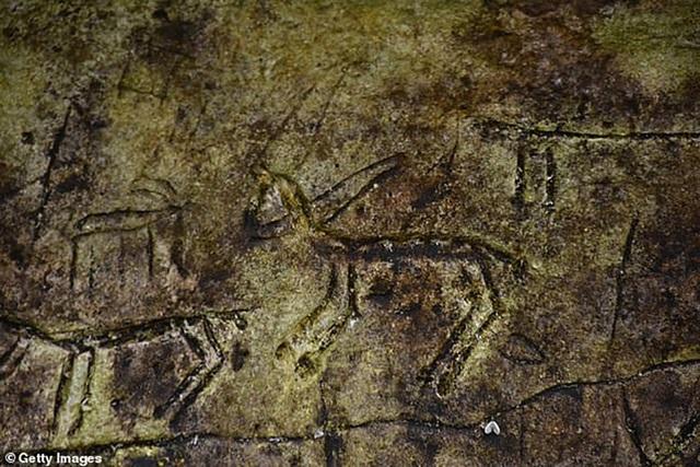 Một phần của bức tranh khắc trên đá mới được phát lộ tại Thổ Nhĩ Kỳ.