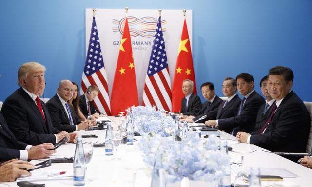 Hai nhà lãnh đạo Mỹ - Trung gặp nhau bên lề hội nghị G20 tại Đức năm 2017 (Ảnh: AFP)
