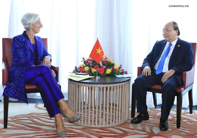 Thủ tướng Nguyễn Xuân Phúc và Tổng Giám đốc IMF (ẢNH: VGP)