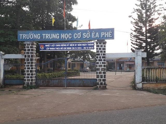 Trường THCS Êa Phê, nơi ông Hạnh từng làm hiệu trưởng