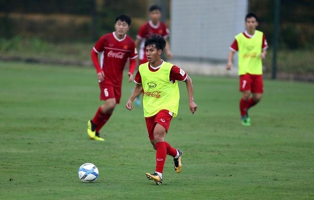 Quốc Chí đầy khát khao được dự kỳ AFF Cup đầu tiên trong sự nghiệp (ảnh: Gia Hưng)