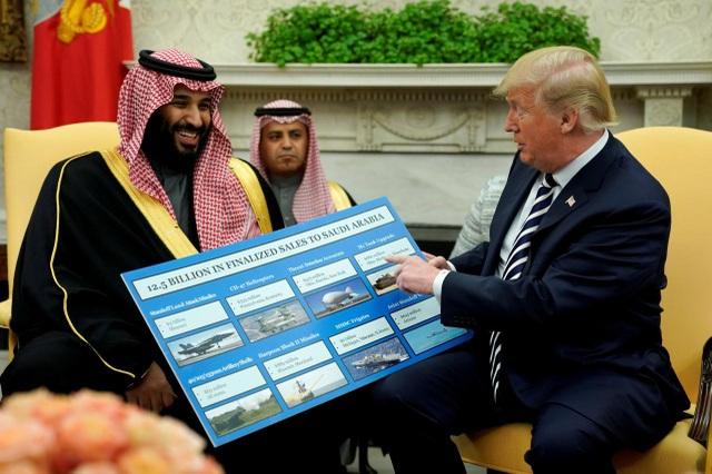 Tổng thống Donald Trump không muốn ngừng các thương vụ bán vũ khí cho Ả rập Xê út. (Ảnh: Reuters)
