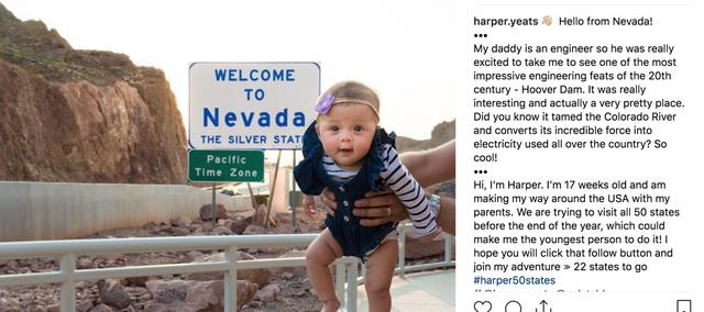 Bé gái 5 tháng tuổi du lịch gần 50 bang nước Mỹ - 7