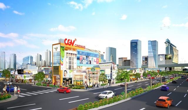 Phối cảnh dự kiến Trung tâm thương mại Central Mall.