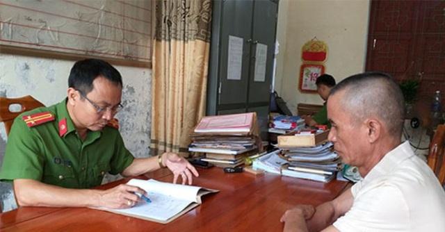 Đối tượng Chu Văn Tân tại CQĐT.