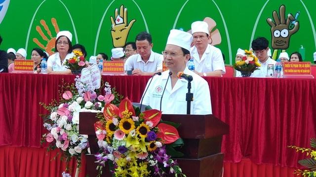 GS.TS Mai Hồng Bàng chia sẻ tại ngày hội rửa tay và phát động phong trào rửa tay trong Bệnh viện 108.