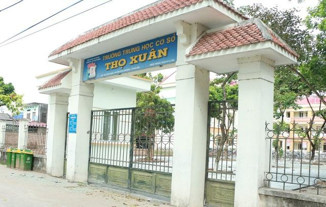 Trường THCS Thọ Xuân sắp sửa đón danh hiệu Chuẩn Quốc gia. (Ảnh: Đ.T).