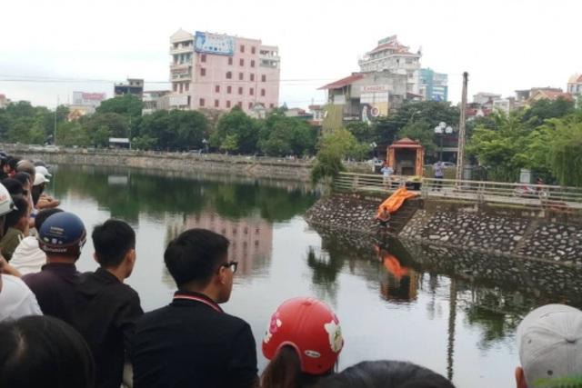 Hồ Thành, nơi phát hiện thi thể nạn nhân.