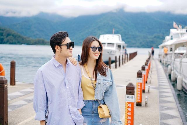 Những khoảnh khắc thân thiết của Diễm My và Quang Vinh tại Đài Loan.