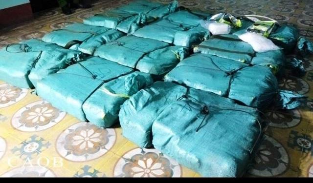 Số ma túy đá bị bắt giữ.