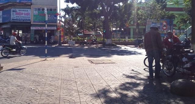 Khu vực nơi đối tượng Lộc rút súng bắn chết người